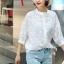 เสื้อผ้าแฟชั่น พร้อมส่งKorean Summer Time Lace Shirt thumbnail 3