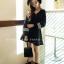 เสื้อผ้าเกาหลี พร้อมส่งเซ็ท2ชิ้นเดรสทรงสวยเนื้อคัตตัลหนานิ่มอย่างดี thumbnail 2