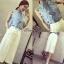 เสื้อผ้าเกาหลี พร้อมส่งเซ็ทเสื้อ+กางเกง เสื้อผ้า cotton สีฟ้า thumbnail 4