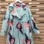 เสื้อผ้าเกาหลี พร้อมส่งเสื้อคลุม ลายดอกไม้ฤดูหนาว thumbnail 4