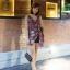 เสื้อผ้าเกาหลีพร้อมส่ง เสื้อแขนกุดคอวีพิมพ์ลายดอกไม้ thumbnail 2