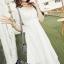 ชุดเดรสเกาหลี พร้อมส่งlong dress สีขาวยาว แขน 3 thumbnail 1