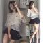 เสื้อผ้าเกาหลี พร้อมส่งSummer Luxury Pearl Top thumbnail 2