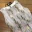 เสื้อผ้าเกาหลี พร้อมส่งเดรสสีขาวพิมพ์ลายดอกไม้โทนสีเทา thumbnail 11