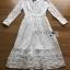 ชุดเดรสเกาหลี พร้อมส่งเดรสผ้าลูกไม้สีขาวตกแต่งกระดุมมุกสไตล์เจ้าหญิง thumbnail 13