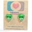 ต่างหูพลาสติก,ต่างหูก้านพลาสติก,ต่างหูเด็ก E29012 The Emerald Heart Earring ต่างหู ราคาถูก thumbnail 1