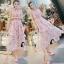 ชุดเดรสเกาหลี พร้อมส่งlong dress สีหวานสายเดี่ยวแบบผูก thumbnail 4