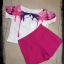 เสื้อผ้าเกาหลี พร้อมส่งเสื้อ+คู่กับกางเกงขาสั้นสีชมพูบานเย็นโดดเด่น thumbnail 4