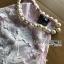 ชดเดรสเกาหลี พร้อมส่งเดรสผ้าเครปสีชมพูปักผีเสื้อตกแต่งสร้อยคอมุก thumbnail 12