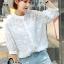 เสื้อผ้าแฟชั่น พร้อมส่งKorean Summer Time Lace Shirt thumbnail 5