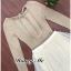 เสื้อผ้าเกาหลีพร้อมส่ง Setเสื้อสเวตเตอร์แขนยาวผ้าบาง thumbnail 10
