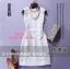 ชุดเดรสเกาหลี พร้อมส่ง เดรสฉลุลายดอกไม้ โทนสีเดียวกับเนื้อผ้า งานฉลุทั้งตัว thumbnail 3