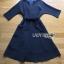 Katie Elegant Chic Minimal navy Blue Dress with Ribbon thumbnail 7