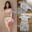 ชุดเดรสเกาหลี พร้อมส่ง มินิเดรสผ้าลูกไม้สไตล์เบสิก thumbnail 6