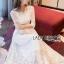 Eves Princess Style White Lace Dress thumbnail 5