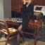 Rachel Smart & Golden buttons Sexy Black Dress thumbnail 4