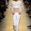 เสื้อผ้าแฟชั่นพร้อมส่ง เสื้อลูกไม้ตาข่ายพลีทลายจุดคอระบาย งานแบรนด์ Christain Dior thumbnail 3