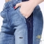 เสื้อผ้าเกาหลีพร้อมส่ง กางเกงยีนส์ทรงเดฟ ผ้ายีนส์ฮ่องกง thumbnail 5