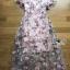 ชุดเดรสเกาหลี พร้อมส่งเดรสผ้าทูลเลปักดอกไม้กุหลาบสีชมพูทับลูกไม้สีชมพู thumbnail 17