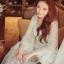 ชุดเดรสเกาหลี พร้อมส่งเดรสยาวฉลุดอกไม้สีขาวบริสุทธิ์ thumbnail 1