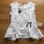 เสื้อผ้าเกาหลี พร้อมส่งเสื้อแขนกุดคอสูงผ้าลูกไม้ตกแต่งชาย thumbnail 14