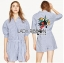 Monica Sporty Embroidered Striped Shirt ZARA Playsuit thumbnail 1