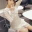 ชุดเดรสเกาหลี พร้อมส่งCrystal White Luxury Self Portrait Stilysh Lace Dress thumbnail 2