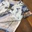 เสื้อผ้าเกาหลี พร้อมส่งVers@ce Line Printing Top + Pant Set thumbnail 6