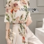 เสื้อผ้าเกาหลี พร้อมส่งเซ็ตเสื้อพิมพ์ลายดอกไม้สไตล์วินเทจและกางเกงทรง culottes ลุคนี้มาแบบเข้าชุด thumbnail 8
