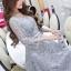 ชุดเดรสเกาหลี พร้อมส่งMiss Grey Princess Stylish Luxury Long Dress thumbnail 5