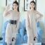 ชุดเดรสเกาหลี พร้อมส่งLong dress. ผ้ามุ้งแขนยาว thumbnail 2