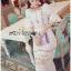 ชุดเดรสเกาหลี พร้อมส่งเดรสยาวผ้าคอตตอนตกแต่งลูกไม้ thumbnail 1