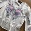 เสื้อผ้าเกาหลี พร้อมส่งเสื้อผ้าคอตตอนปักลายดอกกุหลาบสไตล์วินเทจ thumbnail 12
