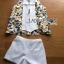 เสื้อผ้าเกาหลี พร้อมส่งเซ็ตเสื้อแขนกุดพิมพ์ลายLemonและกางเกงขาสั้นสีขาว thumbnail 10