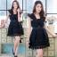 ชุดเดรสเกาหลี พร้อมส่งLuxury Lace Pricess Dress thumbnail 4
