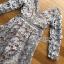 ชุดเดรสเกาหลี พร้อมส่งเดรสผ้าลูกไม้สีเทาอมฟ้าไลแล็คสไตล์แบรนด์ Self-Portrait thumbnail 17
