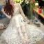 ชุดเดรสเกาหลี พร้อมส่งเดรสยาวผ้าทูลเลปักผีเสื้อสีฟ้า3D สไตล์เจ้าหญิง thumbnail 1