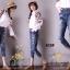 เสื้อผ้าเกาหลี พร้อมส่งกางเกงยีนส์ ทรงบอย ผ้ายีนส์ฮ่องกง thumbnail 5