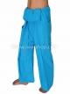 กางเกงเล กางเกงโยคะ ผ้าสลาฟ สีฟ้า