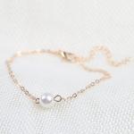 สร้อยข้อเท้าเกาหลี Pearl Bracelet lady Chain