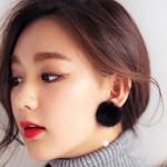 ต่างหูเกาหลีแฟชั่น Style4 (สีดำ)