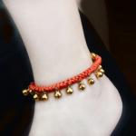 สร้อยข้อเท้า Copper hand bell Natal red