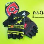 ถุงมือเจลครึ่งนิ้ว QEPAE - ดำเหลือง