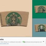 ไอเดียบรรเจิด!!! วาดทับโลโก้ Starbucks เดิม จนมีคนติดตามมากกว่าหมื่นคนใน Instagram