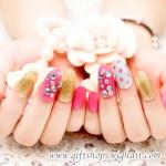 เล็บปลอมลายแฟชั่นเกาหลี 4ลาย4สไตล์ (Beautiful nails) กล่องละ24ชิ้น กล่องละ24ชิ้น (พร้อมกาวอย่างดี1หลอด)