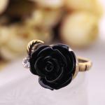 แหวนเกาหลีกุหลาบสีดำ