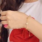 สร้อยข้อมือ แฟชั่น เกาหลี ดาวสีทอง