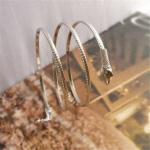 สร้อยข้อมือ Silver bracelet with multi-layer winding snake