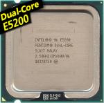 [775] Dual Core E5200 (2M Cache, 2.50 GHz, 800 MHz)