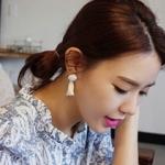 ต่างหูเกาหลีแฟชั่น Style 2 (สีขาว)